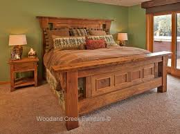 old wood panel beds