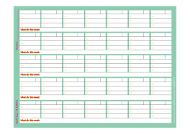 Monthly And Weekly Planners Monthly And Weekly Planner Template For Small Business