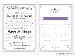 Free Wedding Program Format Sample Wedding Agenda Template ...