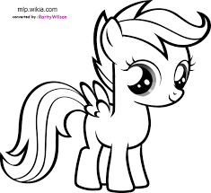 my little pony scootaloo coloring pages