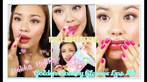 First Impressions Holika <b>Holika Golden Monkey Glamor</b> Lips Kit ...
