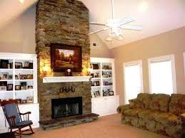 DIY Stone Veneer Fireplace IdeasStacked Stone Veneer Fireplace
