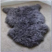 grey sheepskin rug uk