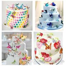 2019 2018 New Edible Butterfly Cupcake Toppers A Set Wedding Cake