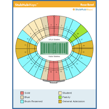Rose Bowl Game 2018 Seating Chart Rose Bowl Stadium Events And Concerts In Pasadena Rose