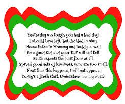Elf on the Shelf Bad Day Poem1