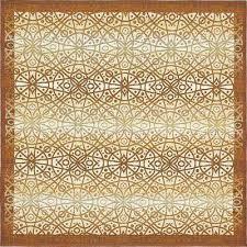 outdoor beige 6 x 6 square indoor outdoor rug