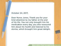 Thank You Letter To Doctor Beauteous How To Write A Thank You Letter To A Nursing Home 48 Steps