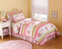 twin comforter set for girl pink and green little girls bedding ladybug 9