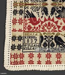 bed cover , Benjamin Kiehl , Wiliam Kilian, Client cotton and wool ...