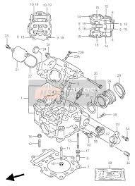 suzuki lt af quadmaster spare parts msp cylinder head for 2000 suzuki lt a500f quadmaster