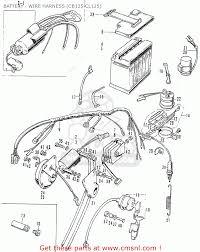 honda cbk battery wire harness cb cl schematic battery wire harness cb125 cl125 schematic