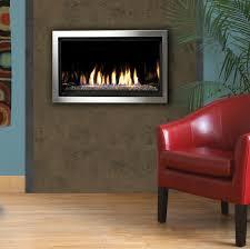 kingsman zero clearance clean view direct vent linear millivolt gas fireplace 36 inch zcvrb3622