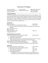 Shannon D. Regan Permanent Address (636)-346-2392 Miami University Address  ...