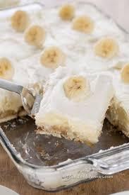 finished banana pudding recipe in baking dish