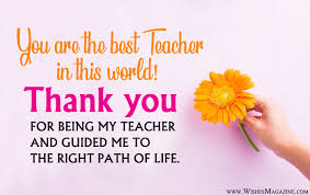 Teacher Message Thank You Message For Teacher Appreciation Wishes Magazine