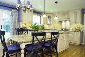 Blue and Yellow Kitchens in French Styles