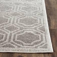 safavieh amherst gray indoor outdoor area rug 7 x 7 square