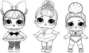 Lol Surprise Doll Coloring Pages Free Printable Coloring At Just