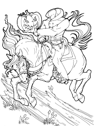 Small Picture Headless Horseman Halloween coloring page Get more Halloween
