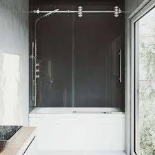 elan 60 in x 66 in frameless sliding tub door in