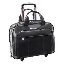 soho wheeled laptop bag black