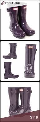 hunter boots size 6 hunter original tall gloss rain boots womens shoes orange hunter