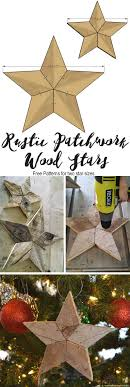 easily add natural elements into your decor with these simple rustic patchwork wood stars