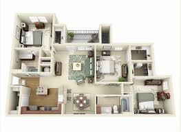 30 denah rumah minimalis 3 kamar tidur 3d tiga dimensi fimell