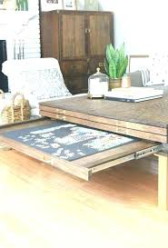 coffee table ottoman jigsaw puzzle with storage black leather