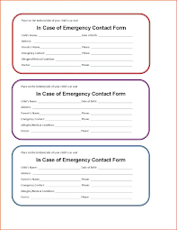 Emergency Contact Form Employee Template Word Cmdone Co