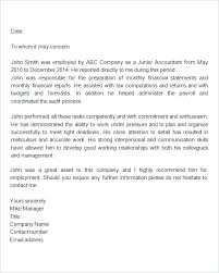 Sample Of Recommendation Letter For Employee Sample Employment