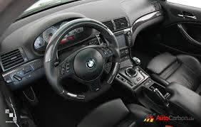 bmw m3 e46 interior. real carbon fiber interior goes perfectly with an steering wheel from autocarbon bmw m3 e46 o