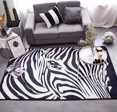 carpet mats zebra carpet black and white bedroom rug living room guest room sofa bed parlor