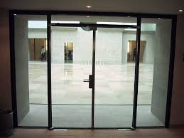 fireproof glass door light stainless steel frame double doors embeddable in the glass wall