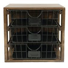 desk organizer. Exellent Organizer Rectangle Wood Metal Desk Organizer W3Drawers For