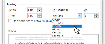 Change The Line Spacing In Word Office Support