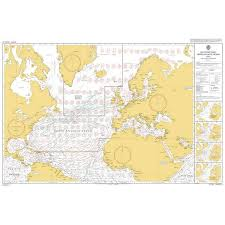 Admiralty Chart 2675 Admiralty Chart 5124 4 Routeing Chart North Atlantic Ocean April
