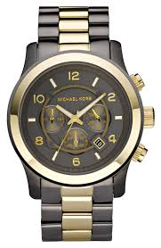 men watches michael kors large gold runway watch watches trends men watches michael kors runway 2 tone chronograph watch