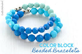 diy beaded bracelets easy color block