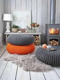 Large Knitted Pouf - Nordic House I would love to make one of these,