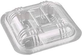 The produce packaging r&d and cnc processing center were established in esm in 2011. Amazon Com 100pcs Disposable Transparent Plastic Boxes Hinged Lid Four Grid Takeout Food Containers For Desserts Fruits Kitchen Dining