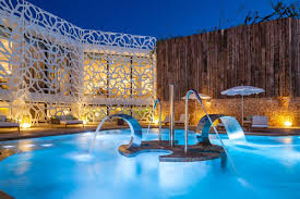 hotel outdoor pool. Hot-tubs-summeredition-ibiza-spanien-hard-rock-hotel- Hotel Outdoor Pool