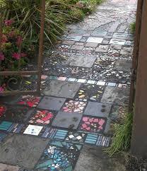 DIY Pebble Mosaic Garden Path  DIY TagMosaic Garden Path