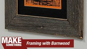 making a picture frame from antique barn wood diresta print