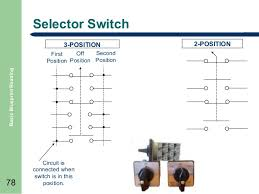 basic blueprint reading normally closed 78 selector switch 3 position