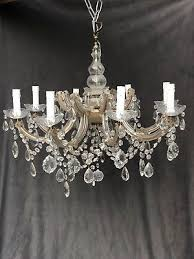 beautiful large antique french glass chandelier