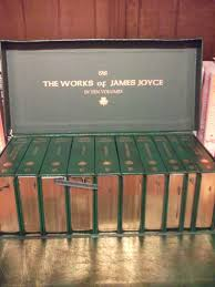 another gift i received for the works of james joyce this is a beautiful set of books with gold edging and are leather bound