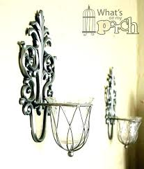 candle holders wall sconce top votive sconces holder silver antique replica rusted
