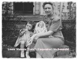 "Louie Mahala ""Lula"" Carpenter McDonnold (1886-1970) - Find A Grave Memorial"